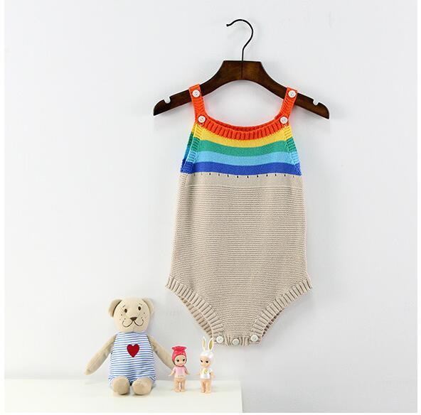 Rainbow Knit Onesie