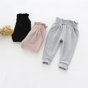 Bubble Hem Cotton Pants