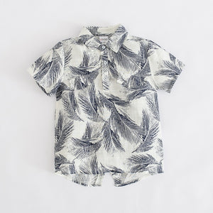 Palm Leaves Collared Shirt (more colors)