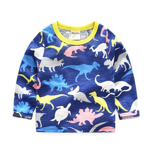 Navy Dinosaur Long Tee