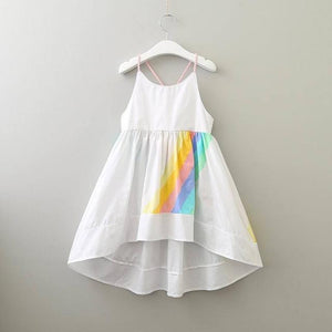 Rainbow Stripe Summer Dress