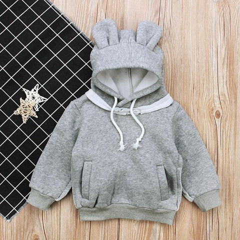 Solid Bear Ears Hoodie (more colors)