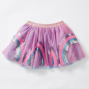 Pink Rainbow Sequins Skirt