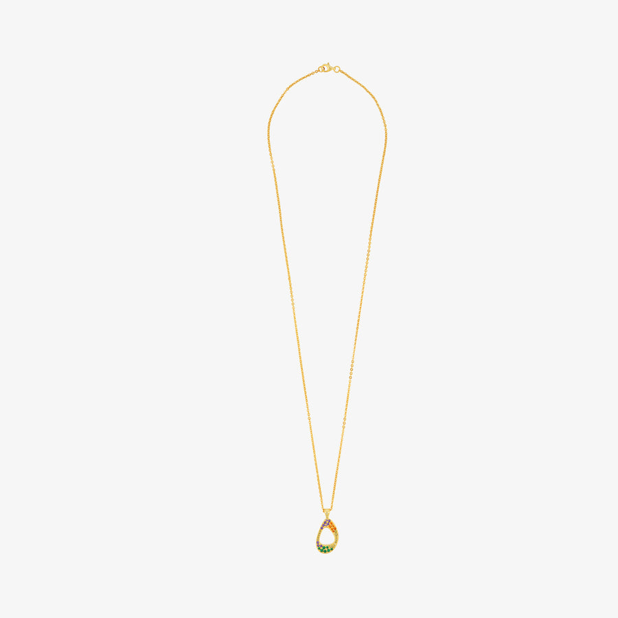 5ivepillars Multicolor Logo Necklace - Gold