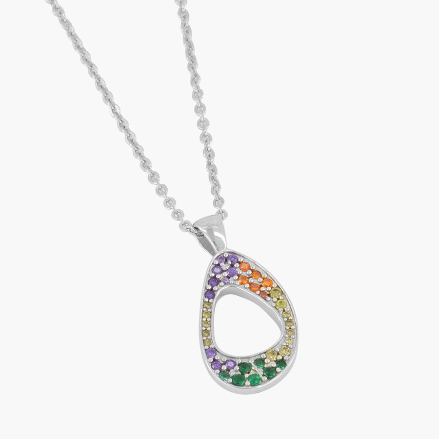 5ivepillars Multicolor Logo Necklace - Silver