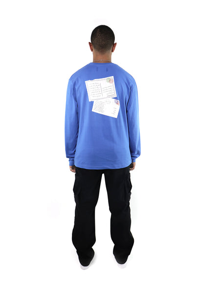 Postcard Long Sleeve - Blue