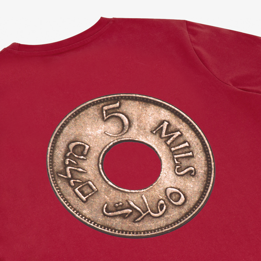 Palestine Coin Tee - Red