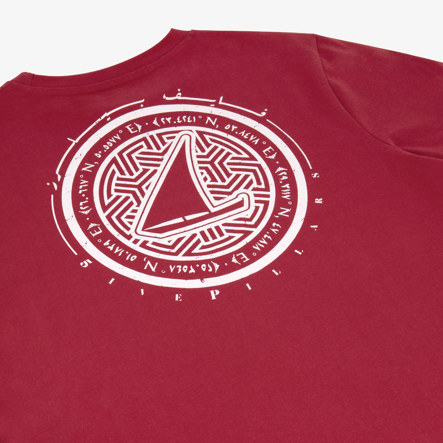 Stamp T-Shirt - Deep Red