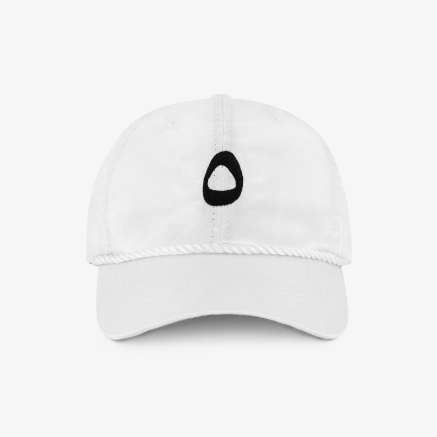 Satin Logo Cap - White