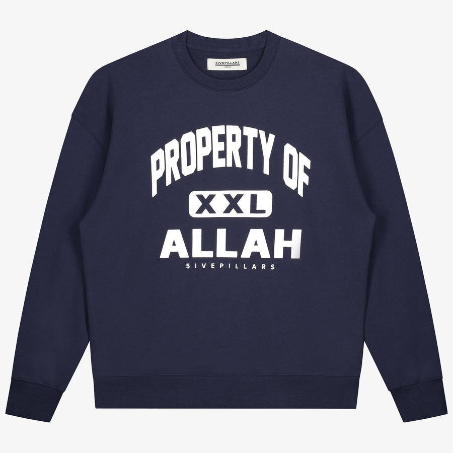Property Of Allah Crewneck - Navy