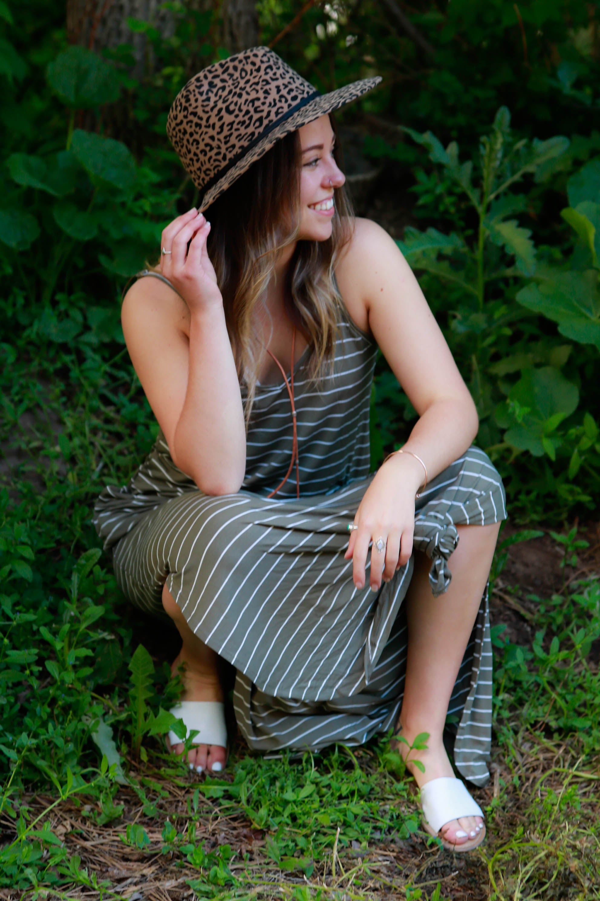 Rebecca Striped Maxi Dress