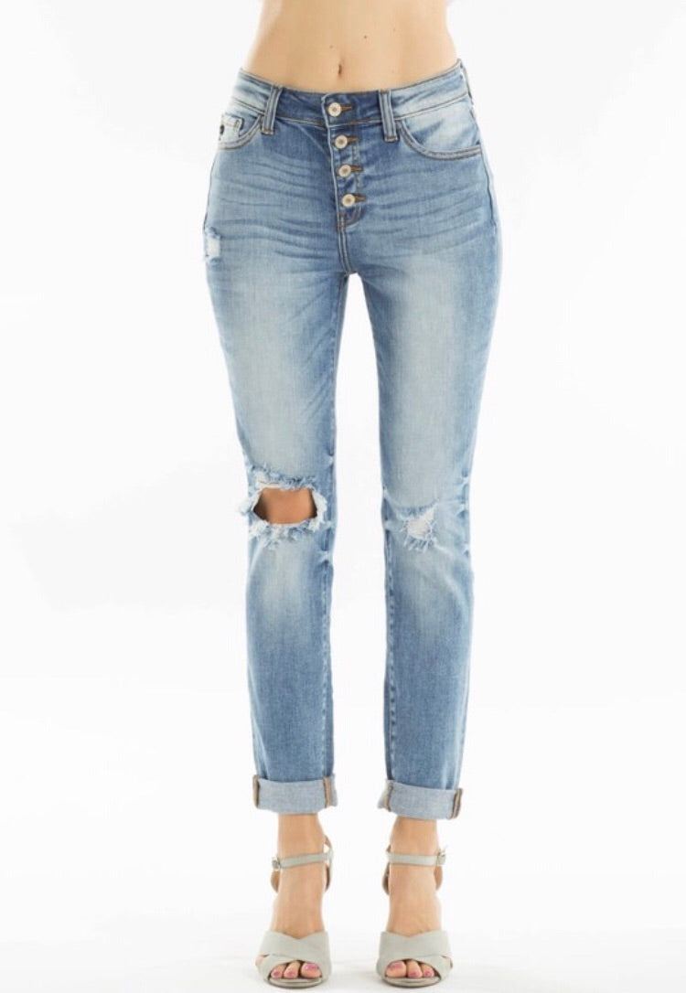 Shaley Button Fly KanCan Jeans