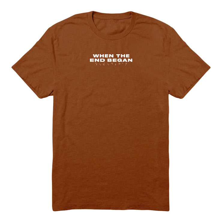 AFTER DUSK BURNT ORANGE TEE