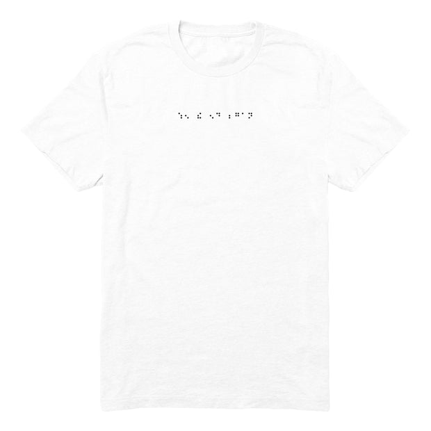 WTEB BRAILLE TEE (WHITE)