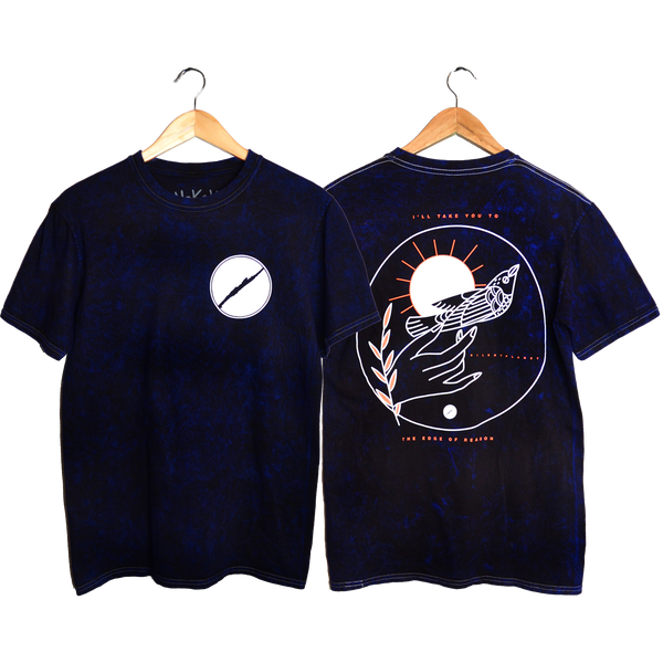 Dark Navy Acid Wash Tee