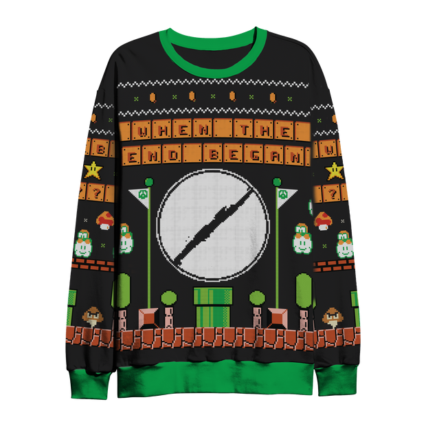 MARIO PLANET HOLIDAY SWEATER (BLACK)