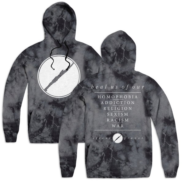 1. Heal Us Custom Hoodie - Black Ice