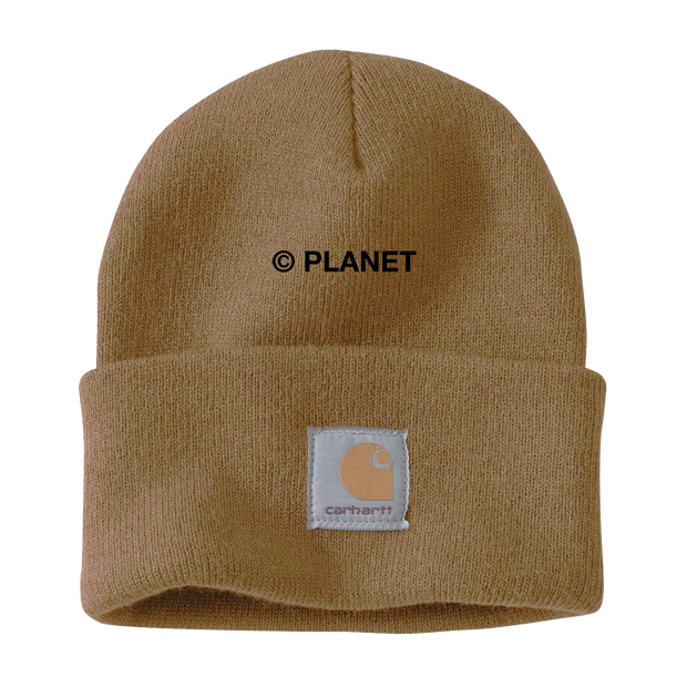 Embroidered Planet on Sand Carhartt Beanie