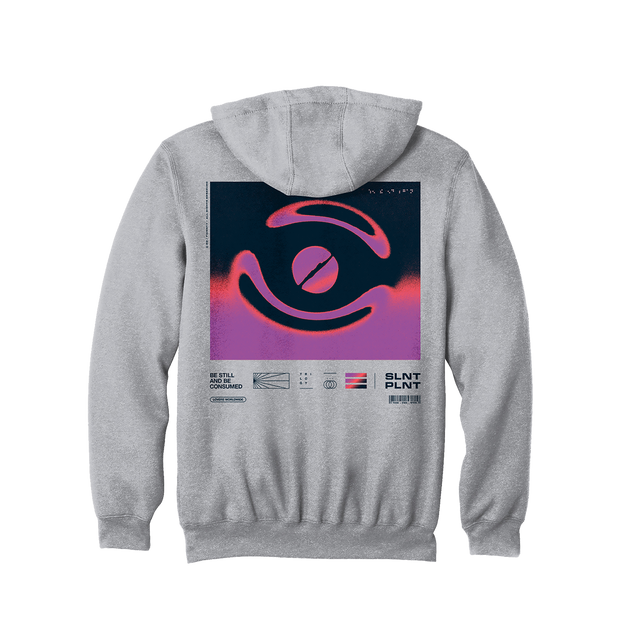 Chrome Swirl on Heather Grey Hoodie