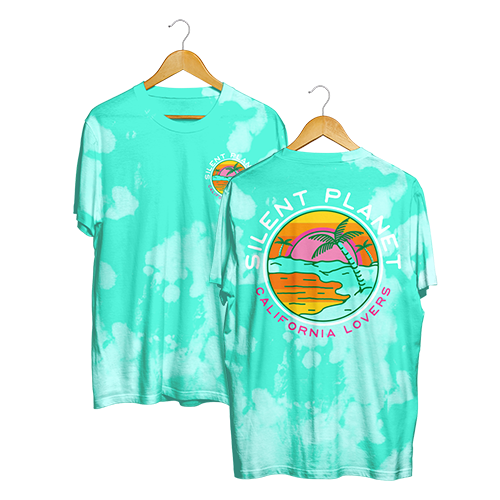 California Lovers Teal Dye Tee