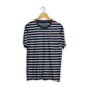 Striped Embroidered Tee