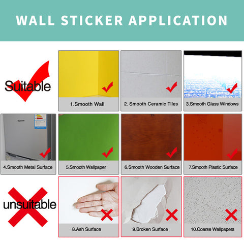Wall Sticker Surface Application