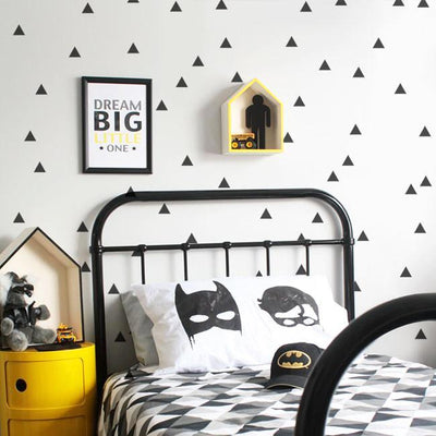Triangle Wall Decals for baby nursery, kids bedroom and playroom. Modern geometric nordic style