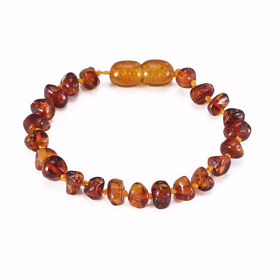 Baltic Amber Teething Bracelet (Cognac)