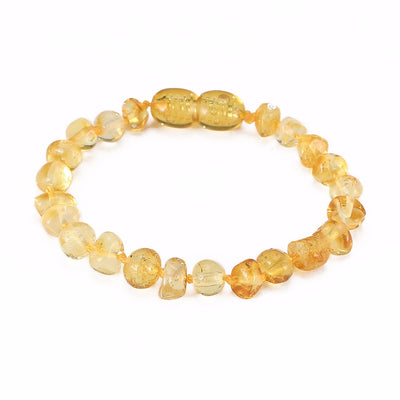 Baltic Amber Teething Bracelet (Lemon)