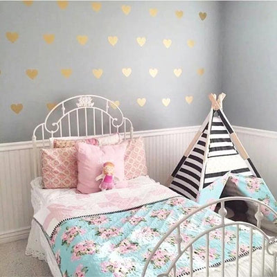 Hearts Wall Decals for nursery, playroom and kids room nordic modern style