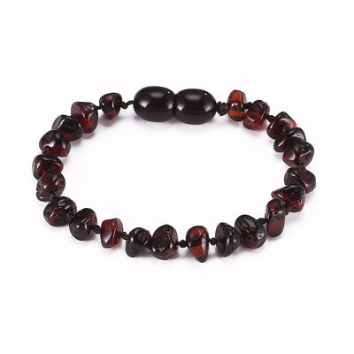 Baltic Amber Teething Bracelet (Cherry)