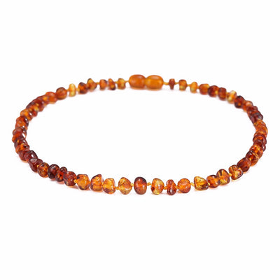 Baltic Amber Teething Necklace (Cognac)