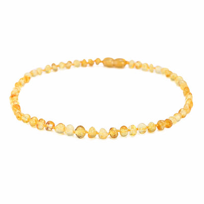 Baltic Amber Teething Necklace (Lemon)