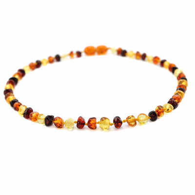 Baltic Amber Teething Necklace (Multicolor)
