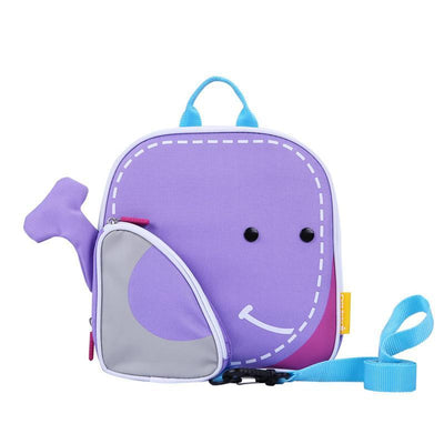 Certar's Whale Safety Backpack Elasticity Anti-lost Safety Hardness Backpack Animal with leash rein for toddler or kids