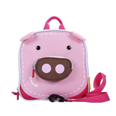 Certar's Piggy Safety Backpack Elasticity Anti-lost Safety Hardness Backpack Animal with leash rein for toddler or kids
