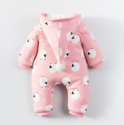 Pink little sheep winter suit