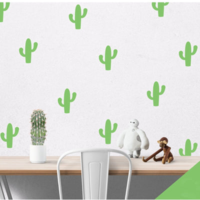 Little Cactus Wall Decals for baby nursery, kids bed room and playroom. Modern nordic style