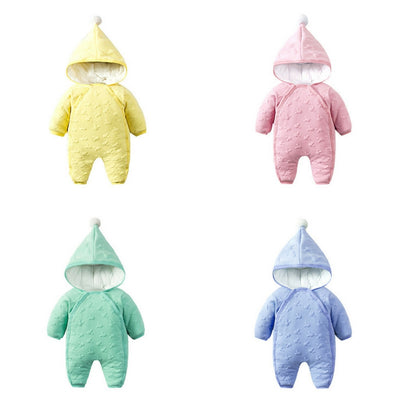 Marshmallow Winter Suits yellow pink green blue baby newborn onesie