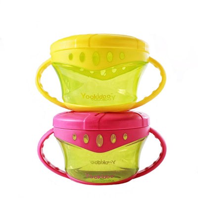 Yookidoo Snack Cup Baby Non-Spill Snack Cup Soft plastic portable Snack storage container useful design especially for baby BPA free snack on the go