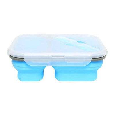 Silicone Collapsible Lunch Box - 900ml for toddlers, kids and adult. Good for school, kindergarten, park and out and about