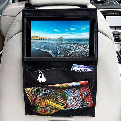 Ipad/Tablet Pocket Organizer Oxford Car Back Seat iPad Hanging Bag Holder Hook Car Storage For Children Toys Pocket Organizer Sundries Storage Bag