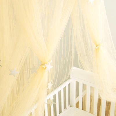 Sheer Canopy - champagne for baby nursery, kids bedroom and playroom. Princess nordic style