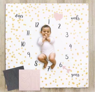 Milestone Blanket Set - Magical for baby newborn milestone photography prop