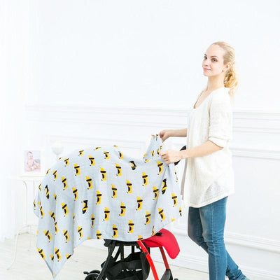 Cotton Bamboo Muslin Swaddle Blanket - Dogs Baby Blanket Muslin Swaddle Wraps 30% Cotton 70% Bamboo Baby Blankets Newborn Bamboo Muslin Blankets
