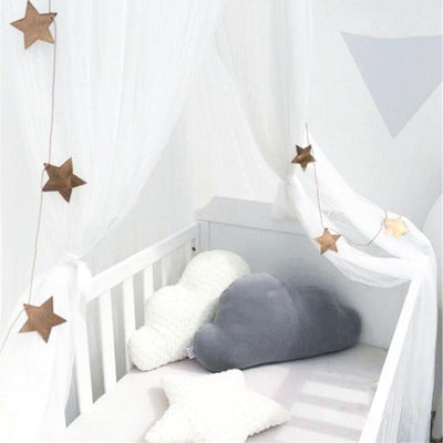 Sheer Canopy - White for baby nursery, kids bedroom and playroom. Princess nordic style
