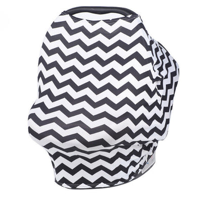 Multi-Use Nursing Cover (Black Zig Zag) breastfeeding cover capsule cover stroller cov