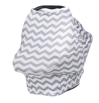 Multi-Use Nursing Cover (Grey Zig Zag) breastfeeding cover capsule cover stroller cov
