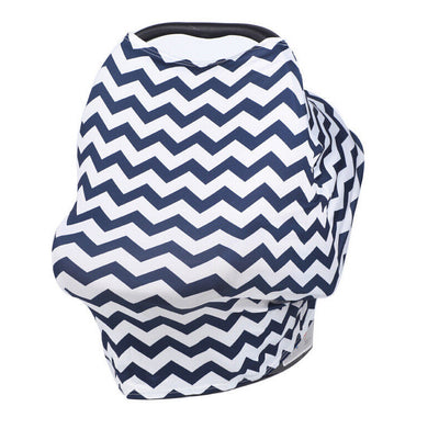 Multi-Use Nursing Cover (Navy Zig Zag) breastfeeding cover capsule cover stroller cov