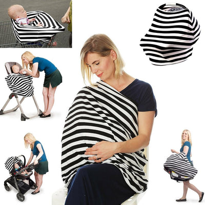 Multi-Use Nursing Cover (Black) breastfeeding cover capsule cover stroller cover baby